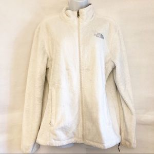 THE NORTH FACE-Full Zip Soft White-Sz Large-EUC